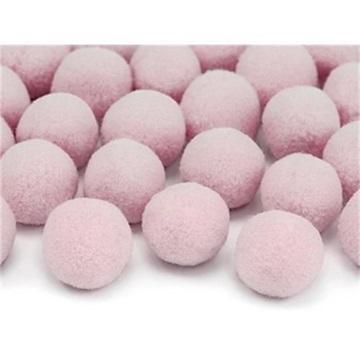 Obrázek Plyšové pom pomy - růžové 20 ks