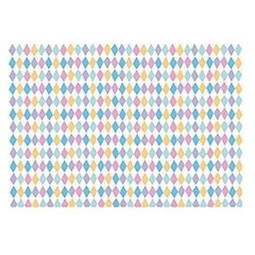 Obrázek Balící papír barevné kosočtverce 68 x 100 cm