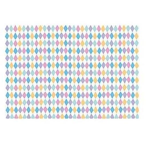 Obrázek z Balící papír barevné kosočtverce 68 x 100 cm