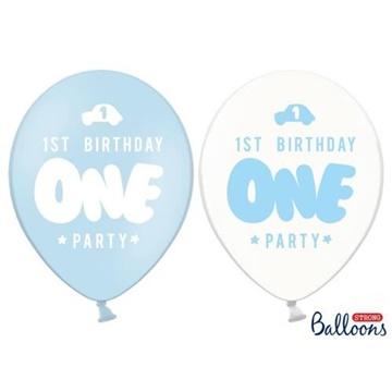 Obrázek Latexový balonek 1st birthday one modrý 30 cm
