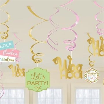 Obrázek Závěsná dekorace Confetti Fun 12 ks