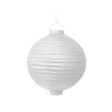 Obrázek Lampion se světýlkem 30 cm bílý
