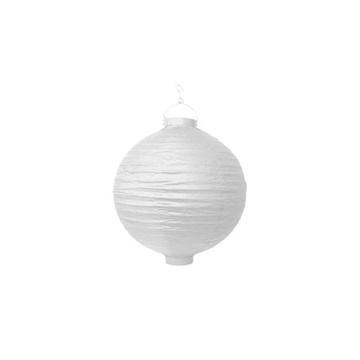 Obrázek Lampion se světýlkem 20 cm bílý