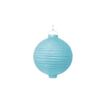 Obrázek Lampion se světýlkem 20 cm světle modrý