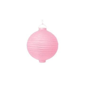 Obrázek Lampion se světýlkem 20 cm světle růžový
