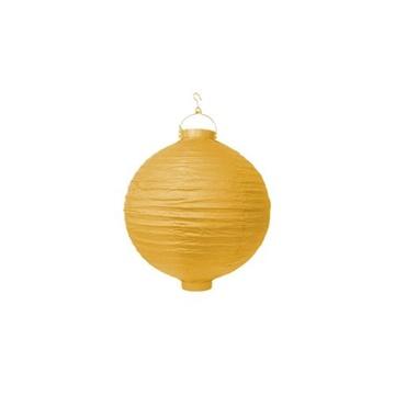 Obrázek Lampion se světýlkem 20 cm žlutý