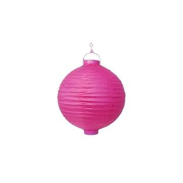 Obrázek Lampion se světýlkem 20 cm tmavě růžový