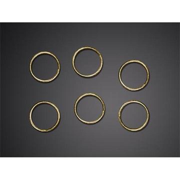 Obrázek Ozdobná dekorace prstýnky zlaté - 48 ks