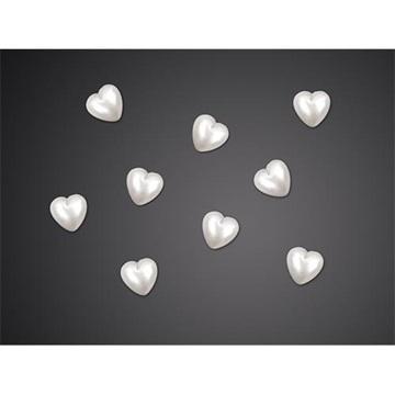 Obrázek Ozdobná dekorace srdíčka perleťová - 50 ks