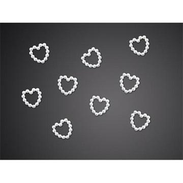 Obrázek Ozdobná dekorace srdíčka perlová - 50 ks