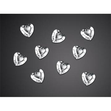 Obrázek Ozdobná dekorace srdíčka stříbrná - 50 ks