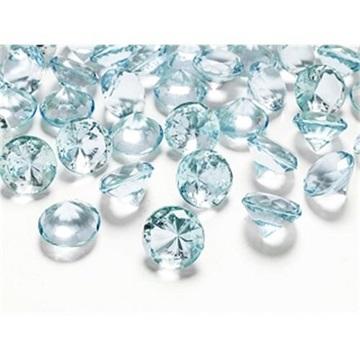 Obrázek Diamantové konfety tyrkysové velké