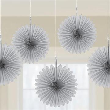 Obrázek Dekorační rozeta stříbrné 15 cm - 5 ks