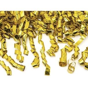 Obrázek Vystřelovací konfety - zlaté serpentiny 40 cm