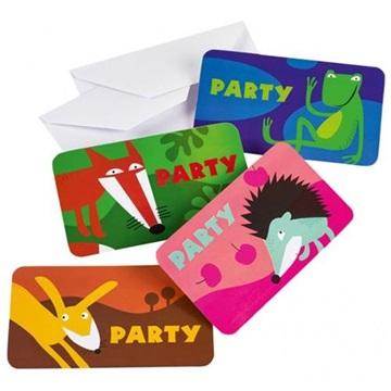 Obrázek Party pozvánky Zvířátka 8 ks