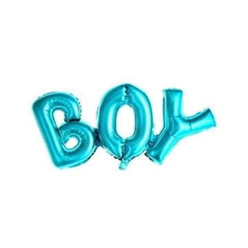 Obrázek Foliový balonek nápis BOY v modré barvě