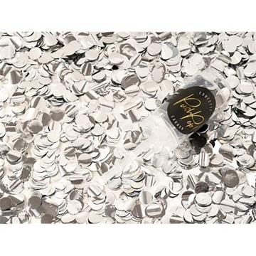 Obrázek Konfety Push pop - stříbrné