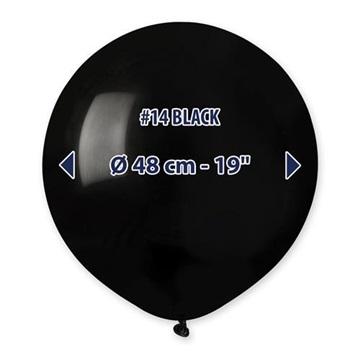 Obrázek Balonek černý 48 cm