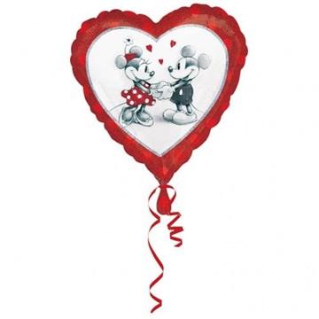Obrázek Foliový balonek srdce Mickey a Minnie 43 cm