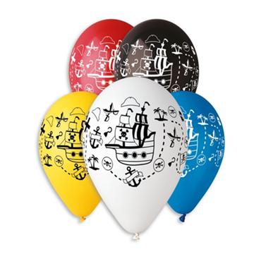 Obrázek Latexový balonek s potiskem Pirátská loď