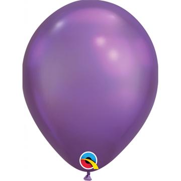 Obrázek Latexový balonek chromový fialový 28 cm