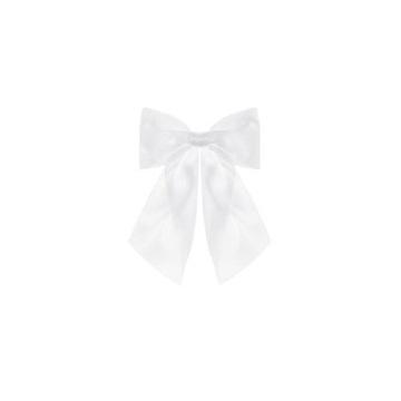Obrázek Dekorační mašle čistá bílá 2 ks