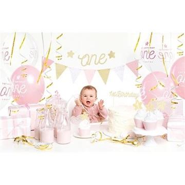 Obrázek Dekorační sada 1st Birthday party zlatá