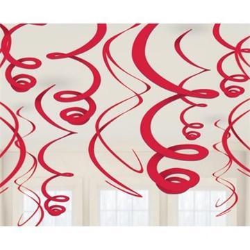 Obrázek Závěsné spirály červené - 12 ks