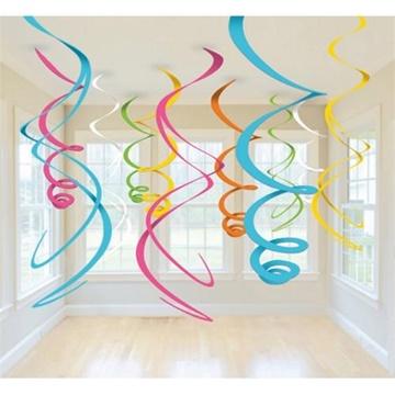 Obrázek Závěsné spirály barevné - 12 ks