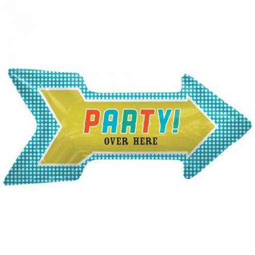 Obrázek z Fóliový balon Party over Here - Party je zde! - Nebalený