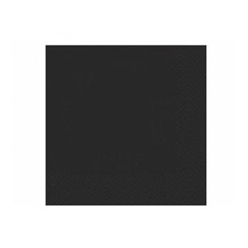 Obrázek Papírové party ubrousky černé 20 ks
