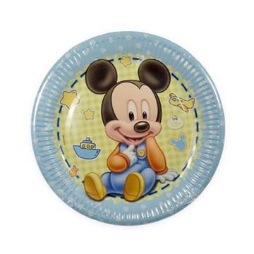 Obrázek Papírové talíře Baby Mickey 23 cm - 8 ks