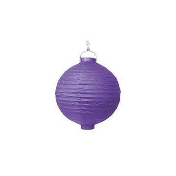 Obrázek Lampion se světýlkem 20 cm fialový