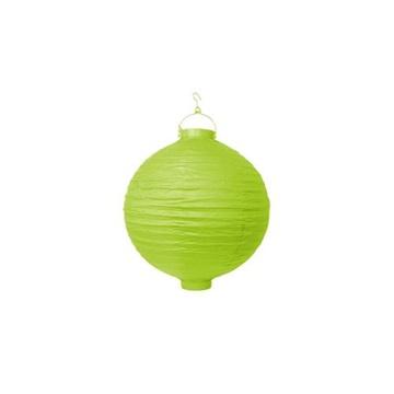 Obrázek Lampion se světýlkem 20 cm světle zelený