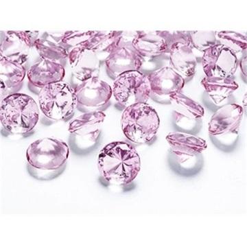 Obrázek Diamantové konfety růžové velké