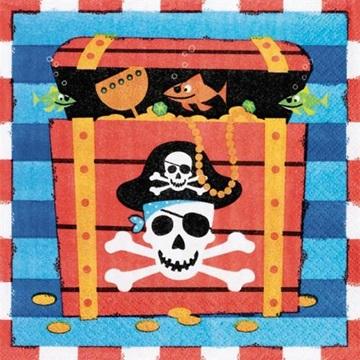 Obrázek Papírové party ubrousky pirátské 20 ks