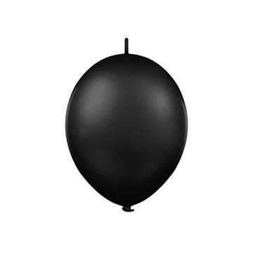Obrázek Spojovací balonek pastelový černý 30 cm