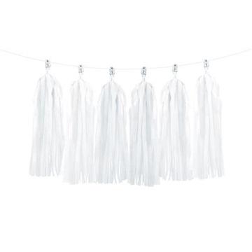 Obrázek Girlanda střapce bílé 2 m