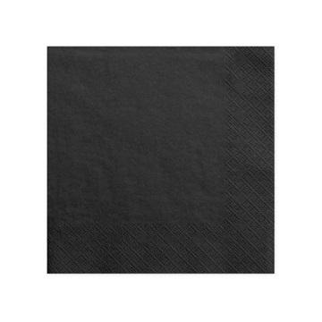 Obrázek Papírové party ubrousky velké černé 20 ks