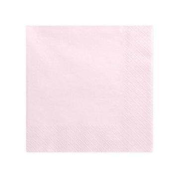 Obrázek Papírové party ubrousky velké světle růžové 20 ks