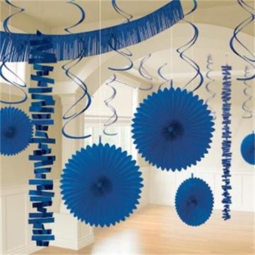 Obrázek Dekorační party sada modrá 18 ks