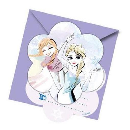 Obrázek z Party pozvánka Frozen Sparkle 6ks