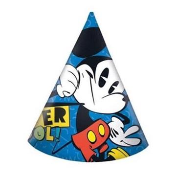 Obrázek Party čepičky Mickey Super Cool 6 ks