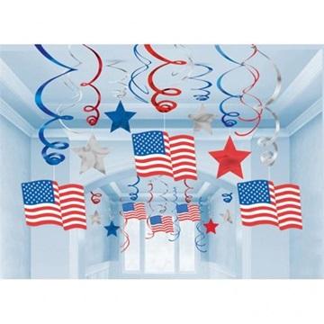Obrázek Závěsná dekorace ve stylu USA 30 ks