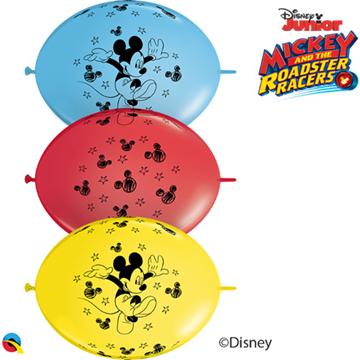 Obrázek Spojovací balonek Mickey 30 cm - 10 ks