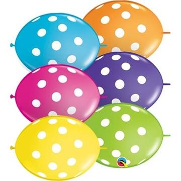 Obrázek Spojovací balonek s puntíky 30 cm - 10 ks