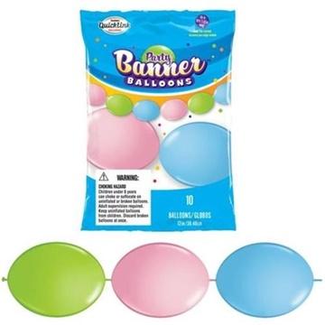 Obrázek Spojovací balonek pastelové 30 cm - 10 ks