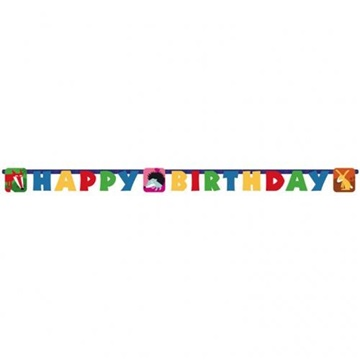Obrázek Party nápis Zvířátka Happy Birthday 180 cm