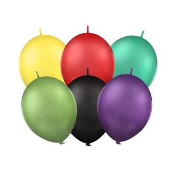 Obrázek Spojovací balonky pastelový mix 30 cm 100 ks