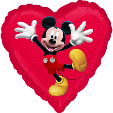 Obrázek Foliový balonek srdce Mickey 45 cm